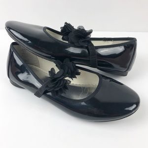 Lands End Black patent leather Gia Mary Jane 3M
